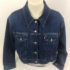 Levi's Womans Jean Jacket Size 2X Dark Wash